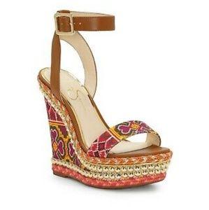 Jessica Simpson Embellished Alinda Wedge Sandal